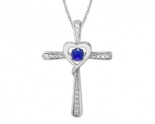 Chicmarket 18kt white gold plated diamond accent tanzanite chicmarket 18kt white gold plated diamond accent tanzanite cross necklace aloadofball Choice Image