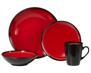 sc 1 st  QuiBids.com & Pfaltzgraff Orion 16-Piece Dinnerware Set - Red - QuiBids.com