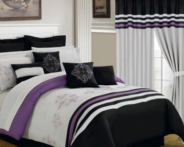 Lavish Home Lavender 24 Piece Room In A Bag Bedroom Set Queen