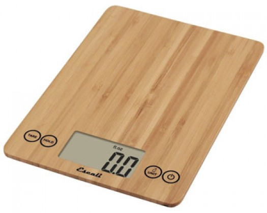 Escali 157 15-Pound Arti Digital Kitchen Scale - Bamboo