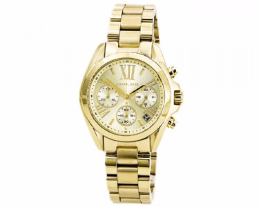 59804809e895 chicmarket.com - Michael Kors Women s Chronograph Mini Bradshaw Gold-Tone  Stainless Steel Bracelet Watch 35mm MK5798