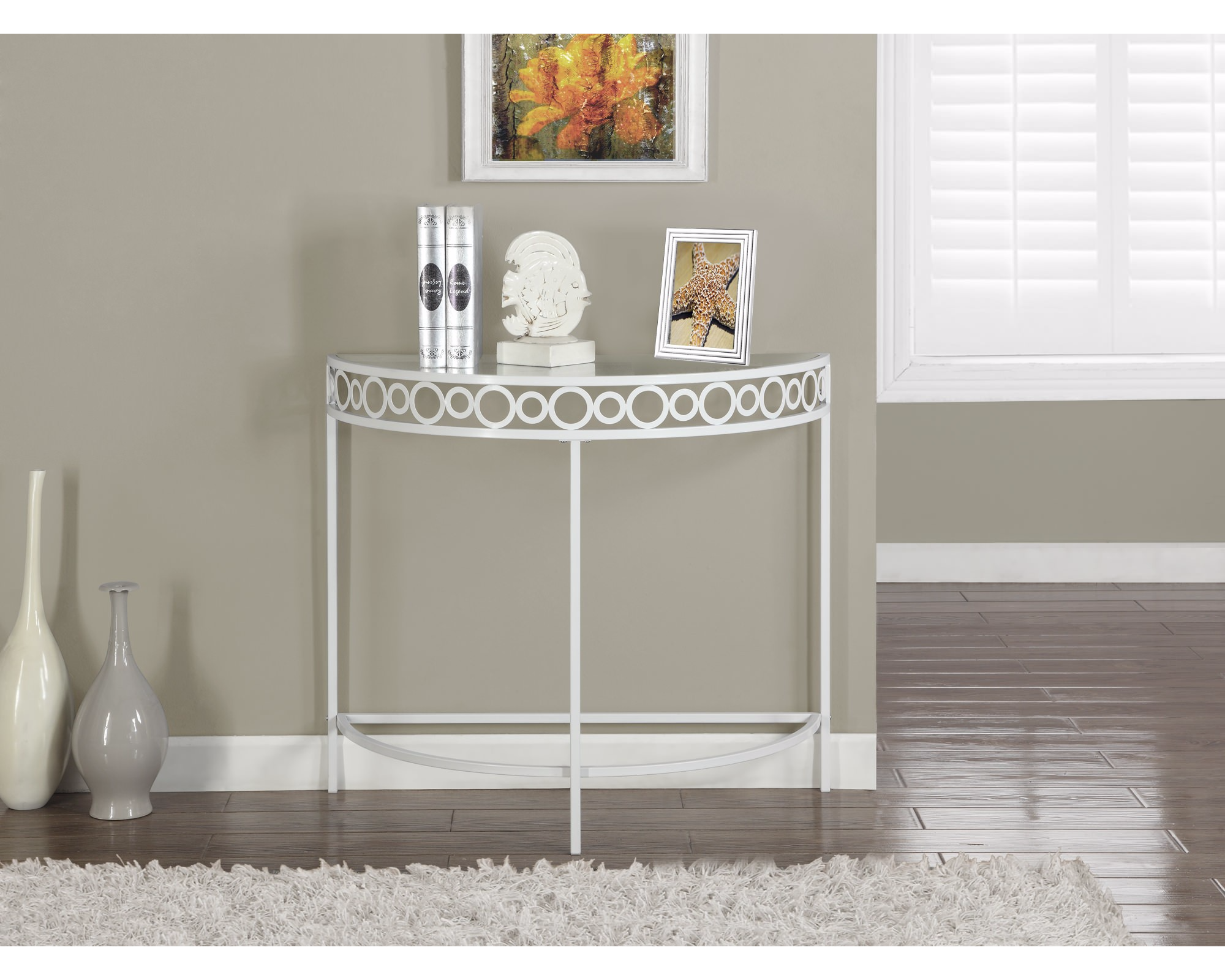 monarch metal hall console accent table martlocal. Black Bedroom Furniture Sets. Home Design Ideas