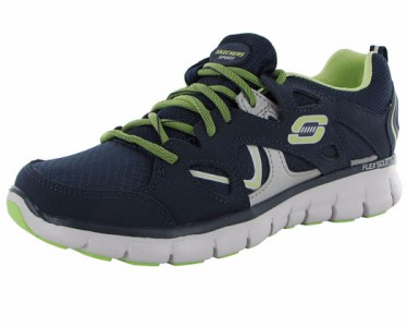 4fdbb624f9bb1 Skechers Womens Synergy Memory Sole 11681 Trainer Shoe - Navy/Lime ...