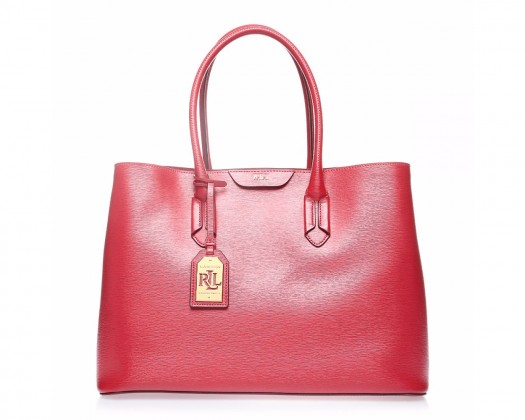 chicmarket.com - Ralph Lauren Tate Leather City Tote - Red a0334a4b0a1ae