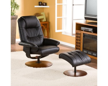 Awe Inspiring Southern Enterprises Bonded Leather Recliner And Ottoman Uwap Interior Chair Design Uwaporg