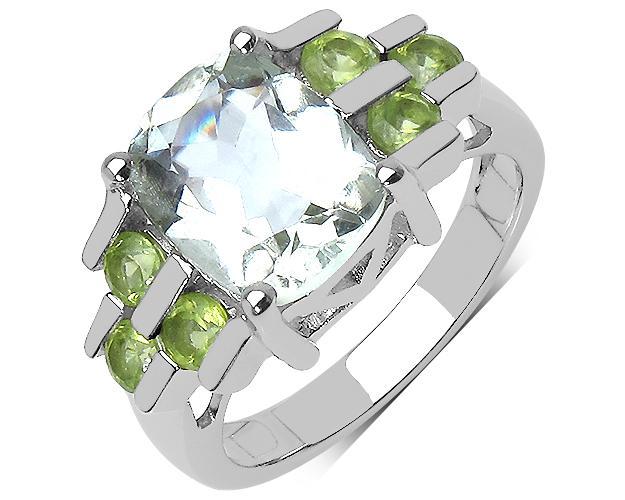 MakersBrand 3.45 ct. Green Amethyst & Peridot Ring