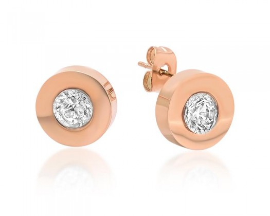 chicmarket.com - 18K Rose Gold Plated Stud Earrings made with Swarovski  Crystals 4b77ba5245