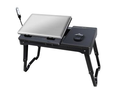 Imountek Portable Laptop Lap Desk W Laptop Cooling Pad
