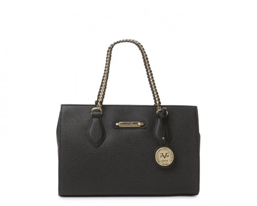 382ffa891a7 chicmarket.com - Versace V1969 Italia Felicitas Chain Shoulder Bag - Black