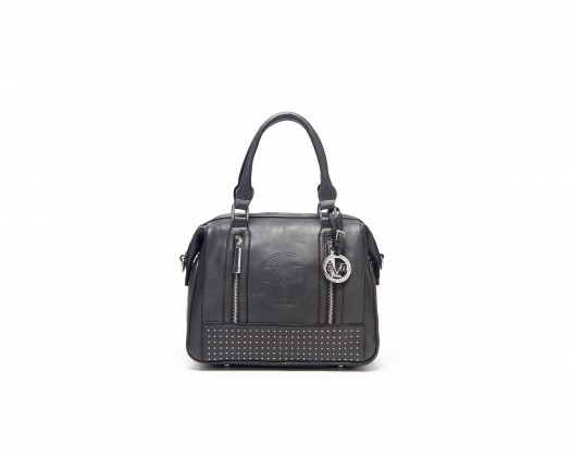0729b3cd5b2 chicmarket.com - Versace V1969 Italia Brooklyn Studded Satchel - Black