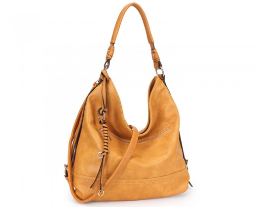 ea49c9c7fd80 chicmarket.com - DASEIN Ultra Lightweight Stylish Casual Soft Water Wash  Faux Leather Hobo Bag Shoulder Bag with Twisted Braided wave strand deco-Tan